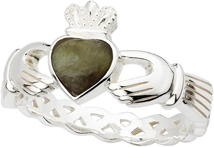 Claddagh Ring Ladies Stainless Steel Made in Ireland