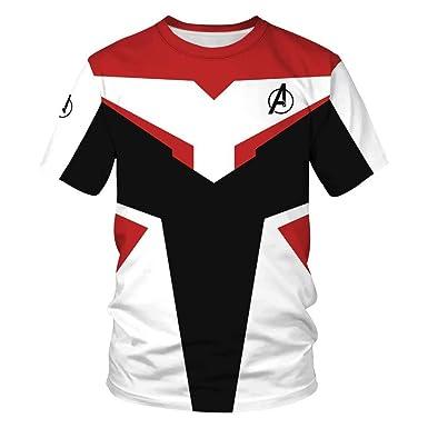 7df73290b137e6 Tsyllyp Women Men Superhero T-Shirt Avengers Endgame Quantum Realm Tops  Pullover