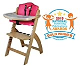 Abiie Beyond Wooden High Chair with Tray. The
