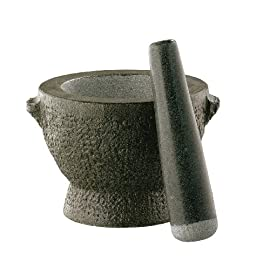 Cilio Granite Tall Mortar and Pestle 21 Pieces cut from solid granite Crush, grind and mix herbs or spices Great for Guacamole and pesto