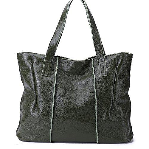 Large Tote Fashion Capacity Handbags Women Malluo Hobo Shoulder Bags Handbags Bags Leather Soft Green vqpawZxn