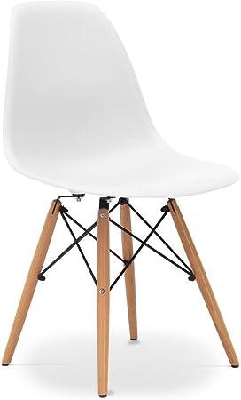 chaises design dsw blanc amazon