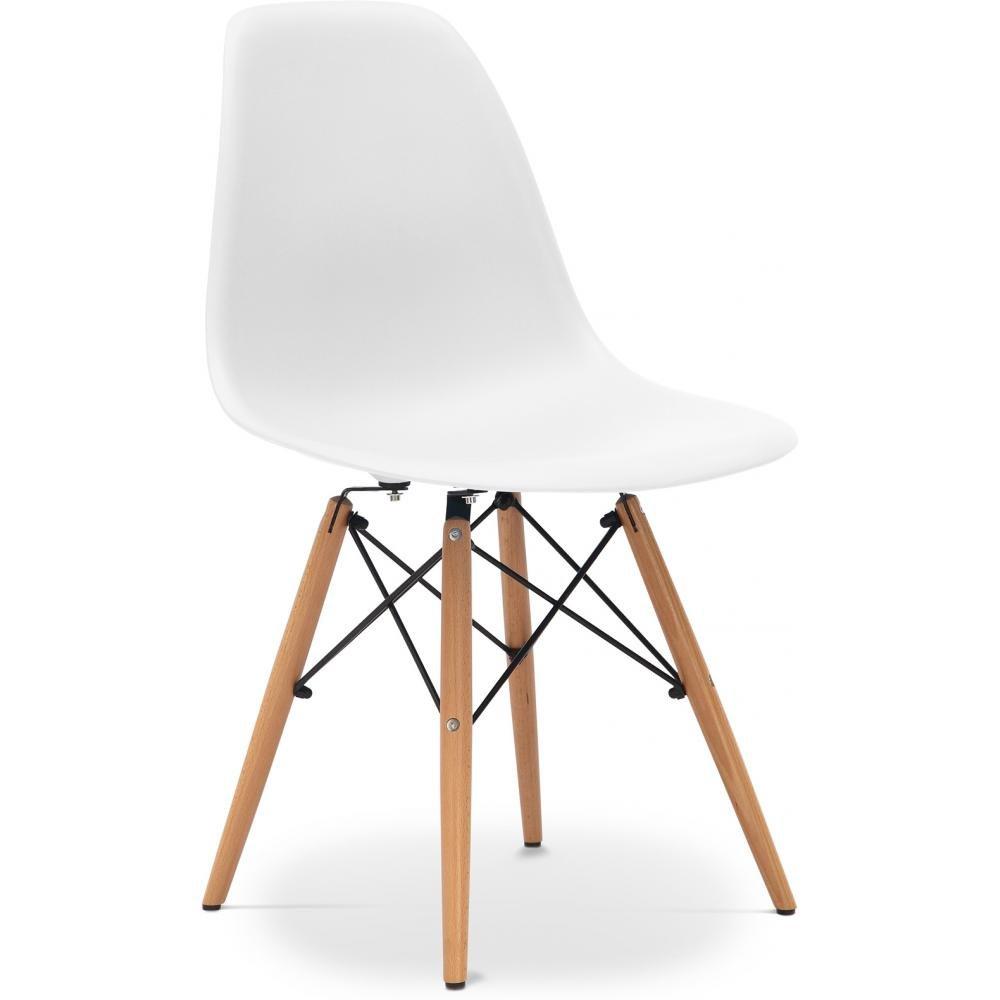 Chaise design style rétro - Blanche: Amazon.fr: Cuisine & Maison
