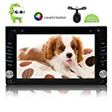 6.2 inch Android 6.0 1GB 16GB Car Stereo - Double Din Bluetooth Radio - Support GPS Navigation, Fastboot, 3G/4G/Wifi, USB SD, Mirrorlink, Backup Camera, Aux, in dash Car Radio Video DVD Player