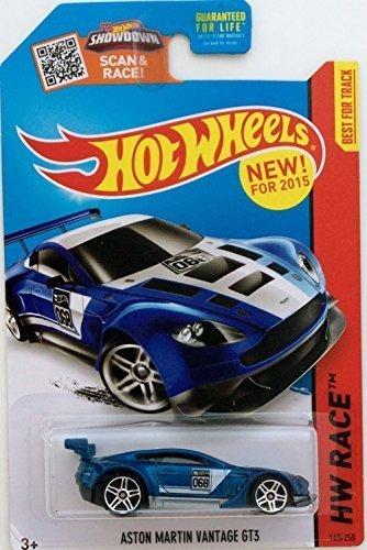 Hot Wheels 2015 HW Race Aston Martin Vantage GT3 149/250, Blue