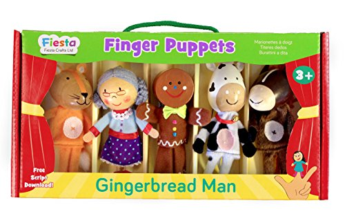 Fiesta Crafts Gingerbread Man Finger Puppet Set]()