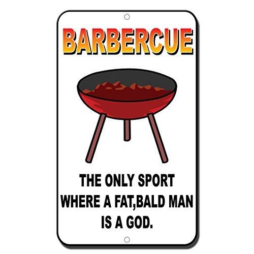 La única deportes en los una barbacoa Fat calva hombre es un ...