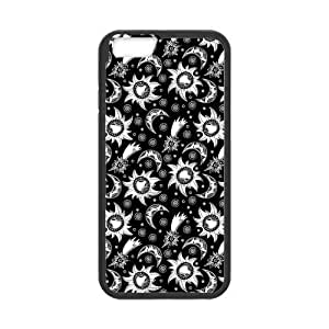 Cool Custom Design Vintage Moon Star Light Plastic and TPU Case Cover for iPhone6