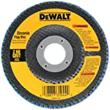DEWALT DW8308  60 Grit Zirconia Angle Grinder Flap Disc, 4-1/2-Inches x 7/8-Inches