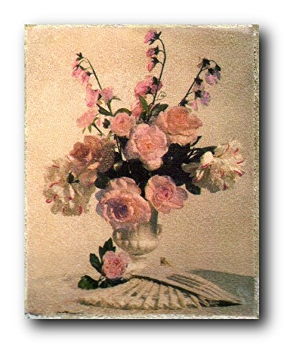Bunch Of Pink Rose In Vase Flower Floral Wall Decor Art Prin