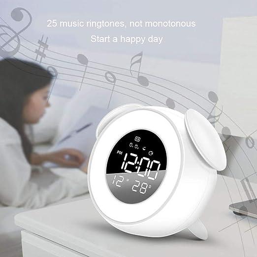 VERLOCO Reloj Despertador Musical con LED Wake-up Light ...