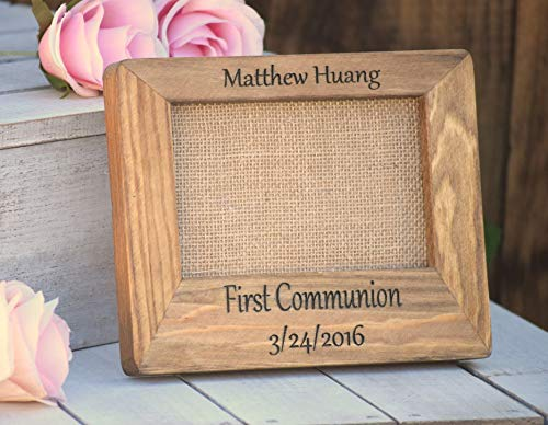 First Communion Gift - First Communion Picture Frame - Personalized Picture Frame - Personalized Baptism Gift - Confirmation Frame - Gifts