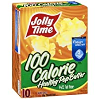 Jolly Time Popcorn 100 Calorie Healthy Pop Butter Mini Bags - 10 CT by Jolly Time