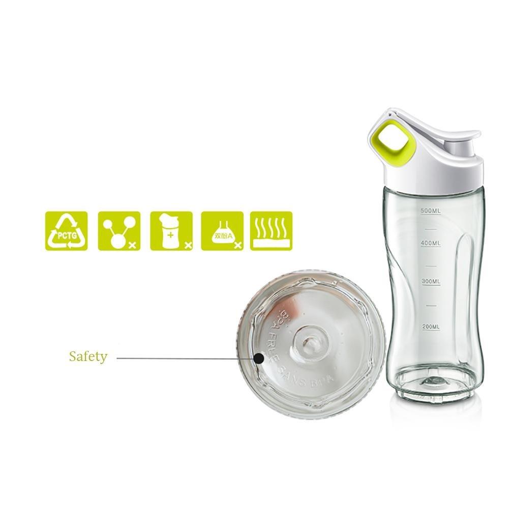 DUCENY Exprimidor de alimentos portátil multifunción con 2 vasos de cristal: Amazon.es: Hogar