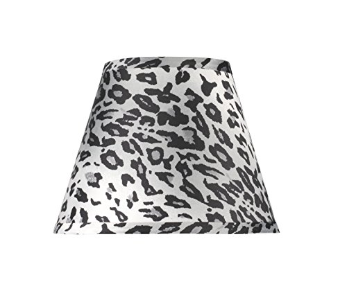 Aspen Creative 32171 Transitional Hardback Empire Shape Spider Construction Lamp Shade with Leopard Pattern, 9