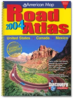 amc us canada mexico road atlas 2004 standard road atlas united
