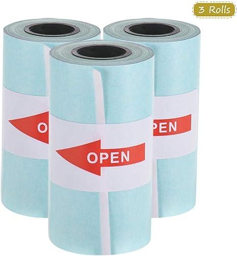 Aibecy Imprimible Etiqueta en color Papel en rollo Papel térmico ...