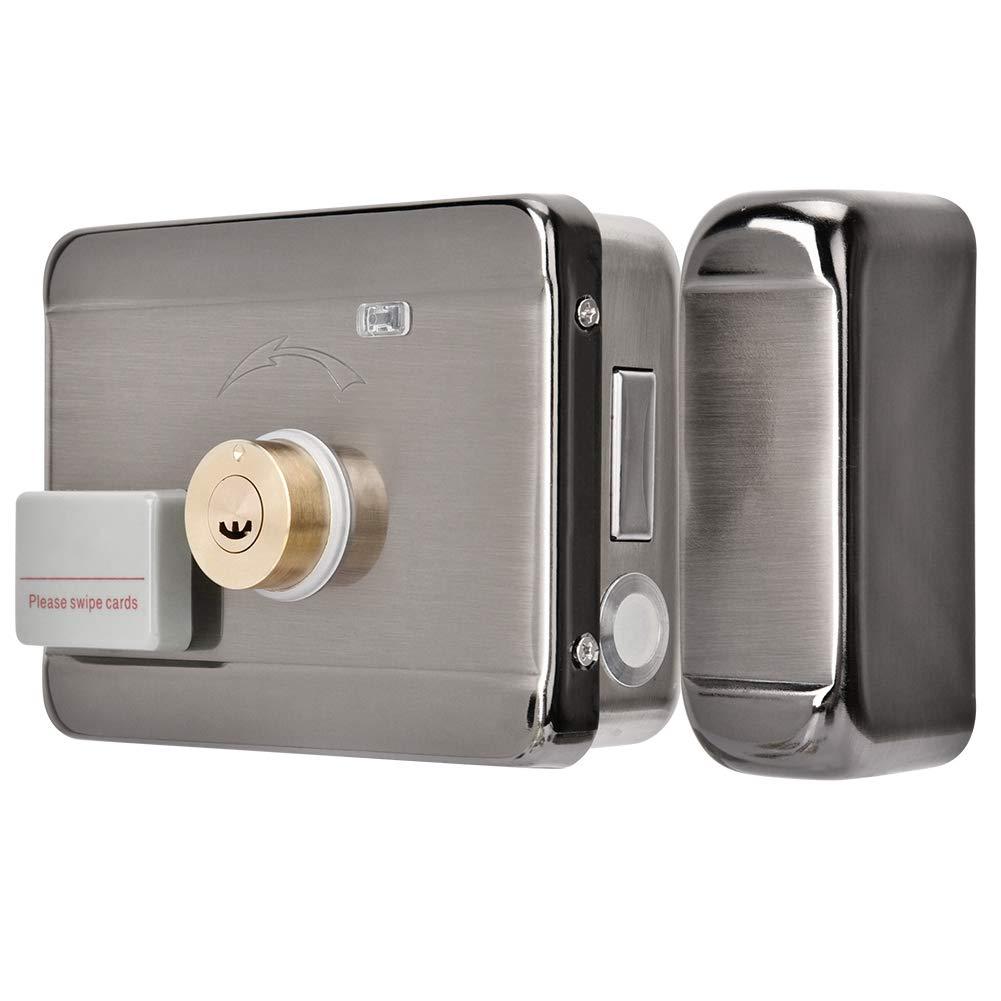 DC 12V Fernbedienung T/ürschloss Kit mit Wireless T/ür Access Control System Wireless Elektroschloss T/ür Zugriffskontrollsystem