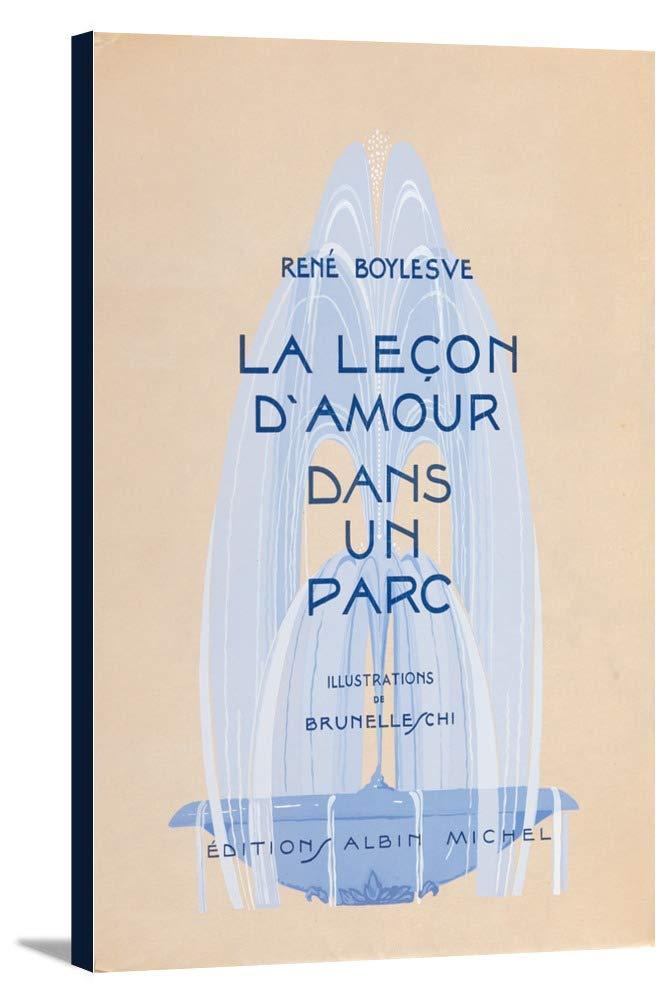 La Lecon D ' Amour Dans Un Parcヴィンテージポスター(アーティスト: Brunelleschi、Umberto )フランスC。1933 24 x 36 Gallery Canvas LANT-3P-SC-65443-24x36 24 x 36 Gallery Canvas  B0184AWVO0