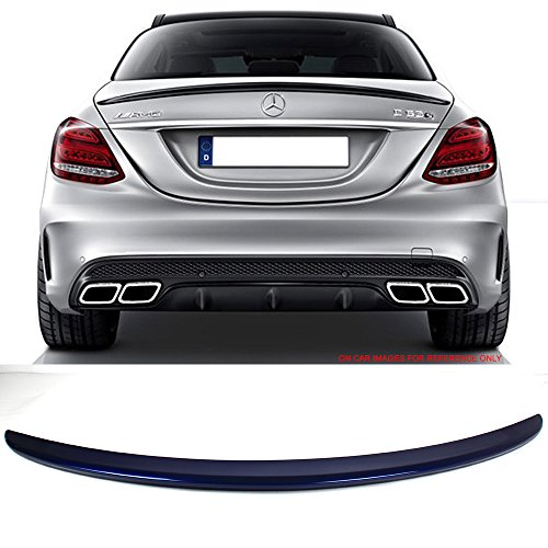 - Pre-painted Trunk Spoiler Fits 2015-2018 W205 AMG ABS Trunk Spoiler OEM Painted Brilliant Blue Metallic #896 Rear Tail Lip Deck Boot Wing Other Color Available By IKON MOTORSPORTS | 2016 2017