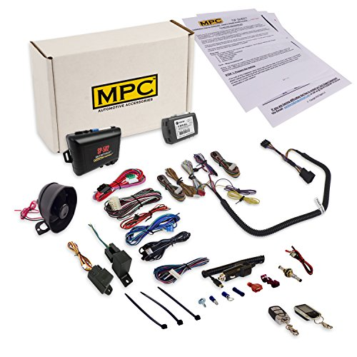 MPC Complete 2-Way LCD Remote Start Kit and Car Alarm for 2007-2018 Jeep Wrangler JK - T-Harness - Firmware Preloaded