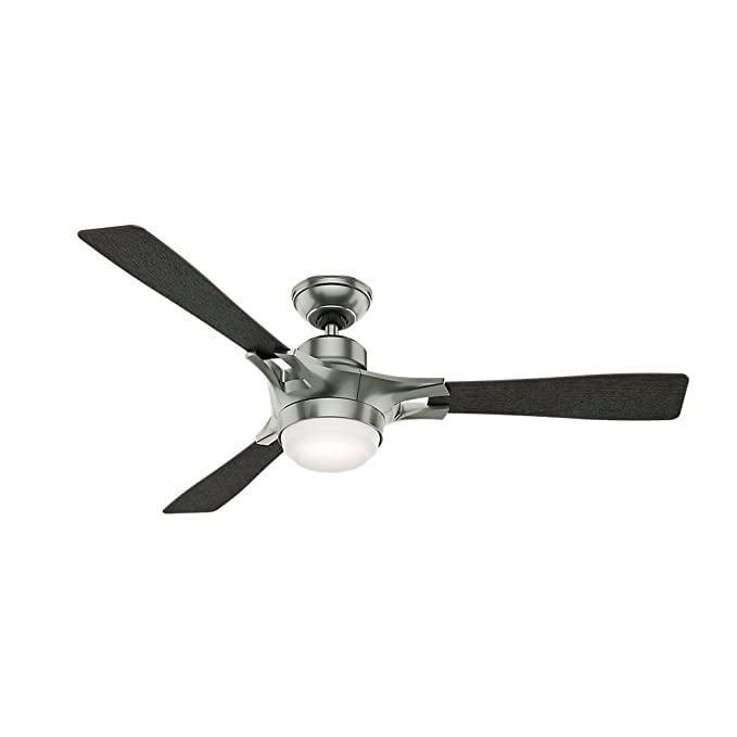 Hunter 59224 Signal Ceiling Fan With Wifi Capability 54 Inch Satin Nickel Works Alexa Com