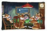 Caroline's Treasures 7416PILLOWCASE Corgi Playing Poker Fabric Pillowcase, Standard, Multicolor
