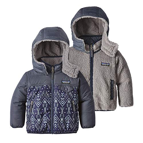 Price comparison product image Patagonia Reversible Tribbles Hoody Baby Indigo Fish: Navy Blue Unisex Baby 3-6m