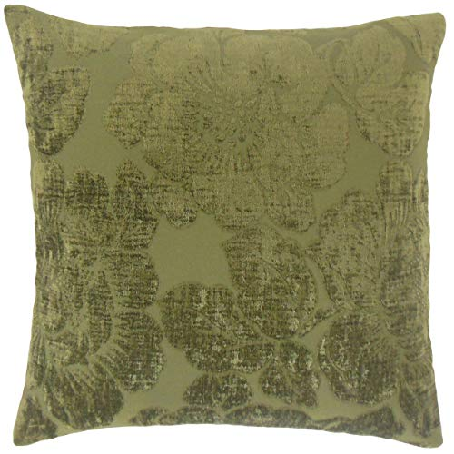 (The Pillow Collection Sarafina Floral Bedding Sham Jade Euro/26