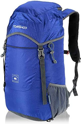 TOMSHOO 40L Ultra Lightweight Backpack Water-Resistant Nylon Backpack Foldable Outdoor Backpack for Hiking camping Cycling