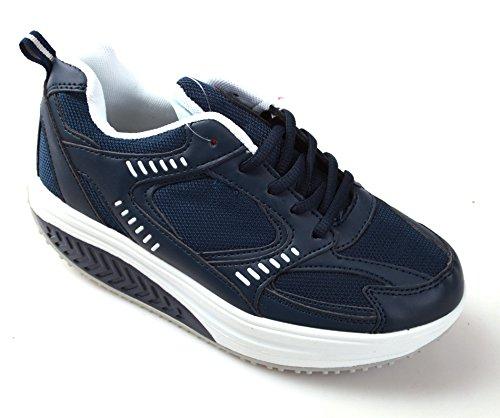 MAPLEAF , Chaussures de gymnastique pour homme bleu bleu foncé