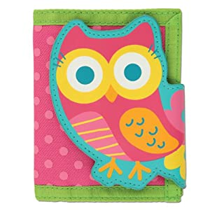Stephen Joseph Wallet Teal Owl