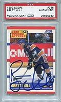 Brett Hull St. Louis Blues PSA/DNA Certified Authentic Autograph - 1990 Score #346 (Autographed Hockey Cards)