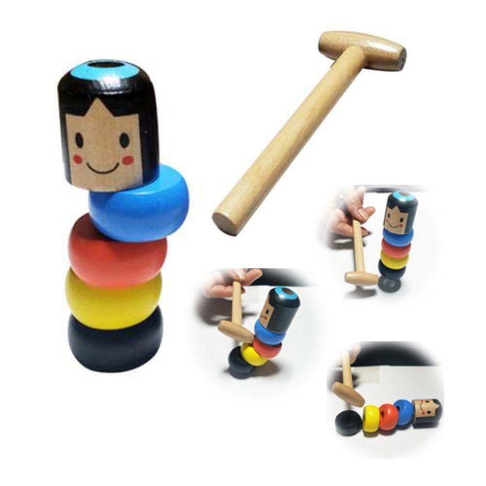 gaeruite Spiel 1Set Immortal Darum lustige unzerbrechliche h/ölzerne Mann Magic Toy Halloween Zaubertricks B/ühne Magic Props
