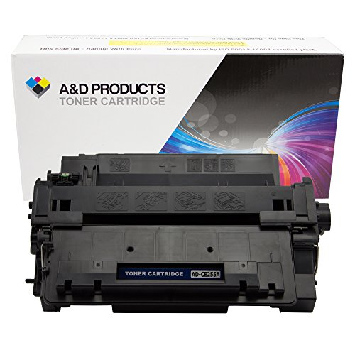 A&D Products Compatible Replacement for HP CE255A HP 55A Toner Cartridge Black (6,000 Page Yield)