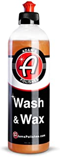 product image for Adam's Wash & Wax 16oz - Car Wash Soap Infused with Pure Carnauba Car Wax Polymers   Car Cleaning Formula W/Paint Protection   Use in 5 Gallon Bucket Foam Cannon Foam Gun & Car Detailing Brush Kit