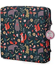 Zicac Owl Printed Dismountable Kids Baby Toddler Infant Harness Cushion Dining Chair On the Go Seat Highten Pad Travel Storage Chair (Multi)