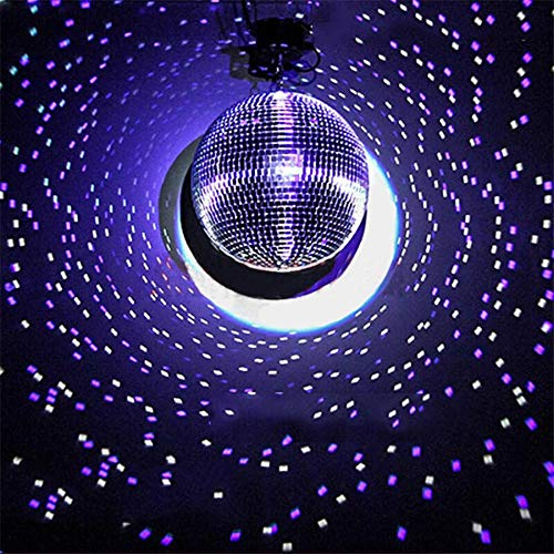 Tableclothsfactory 24'' Groovy Glass Mirror Disco Ball Party Decoration for Wedding Event Birthday Party by Tableclothsfactory (Image #1)