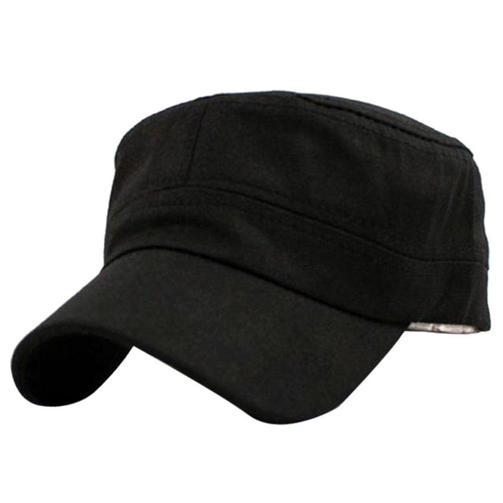 SUMTTER Cappello classico del cappuccio di cotone di stile del cadetto dell'esercito di pianura dell'annata classica regolabile Berretto