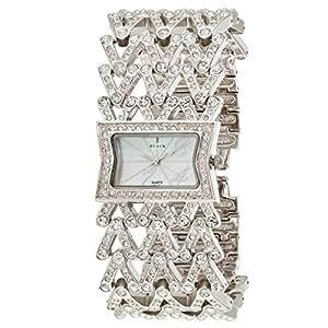 Black Royale Women's White Dial Brass Band Watch - 10557LSSB