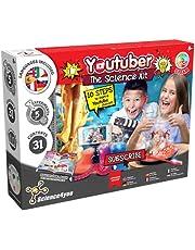 Science4you - Youtuber-kit voor kinderen +8 jaar - Maak uw kanaal, toon 5 wetenschappelijke ervaringen voor kinderen met deze scheikundekit: vulkaankit, explosieve wetenschap, Educatief spel 8-12 jaar