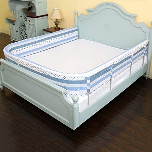 JIMI-I Crib guardrail, drop-proof children's bed, big bed fence, baby  bedside bed sponge fence (Size : 190cm)