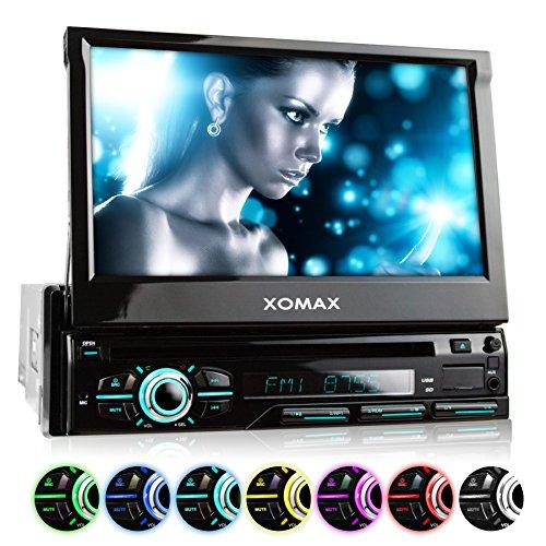XOMAX XM-DTSB928 Autoradio / Moniceiver + Bluetooth Freisprecheinrichtung & Musikwiedergabe + 18cm / 7