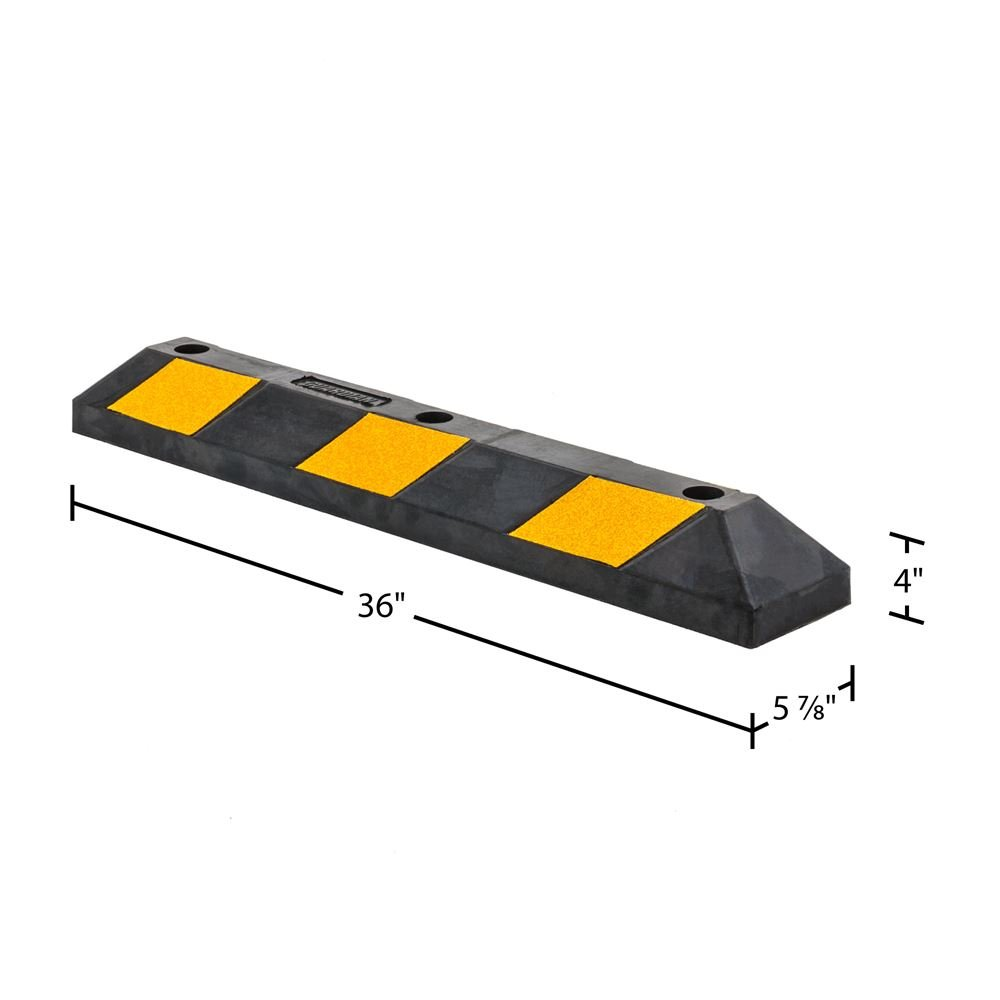 Guardian DH-PB-5 Heavy Duty Rubber Parking Curb-36 Long by Guardian (Image #3)
