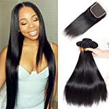 Best Hair Bundles With Free Parts - Brazilian Virgin Straight Hair Bundles With Closure 10A Review