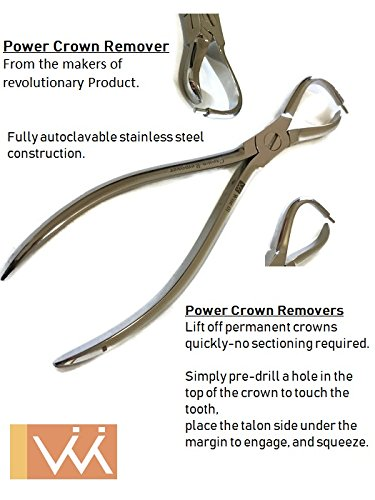 Dental Crown Remover Plier. Reduces Incidence of Root Damage