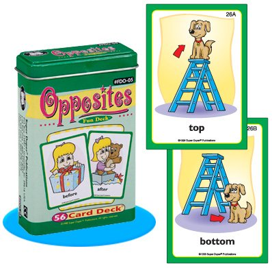 Opposites Fun Deck Cards - Super Duper Educational Learning Toy for Kids (Opposites Flash Cards)