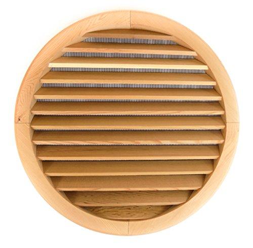 Miller Shingle Round Clear Cedar Vent, Flush Mount - 24 inch Diameter