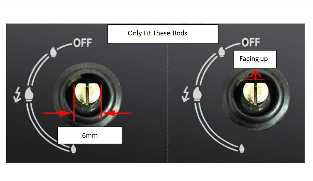 SCSpecial 6mm Gasherd Kn/öpfe universal Zink Legierung K/üche Herd Drehknopf Locks Ofen Schalter Kochfl/äche Control
