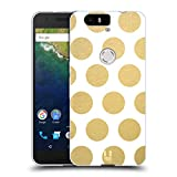 Head Case Designs Dots Grand As Gold Soft Gel Case for Huawei Nexus 6P